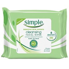 Simple Cleansing Facial Wipes (25 wipes)