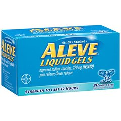 Aleve Liquid Gels with Naproxen Sodium, 220mg (NSAID) Pain Reliever/Fever Reducer, 80 Count