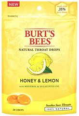 Burts Throat Drops Hny/Le Size 20ct Burts Throat Drops Honey Lemon 20ct