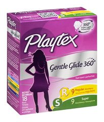 Playtex Plastic Tampons Gentle Glide 360 Multi-Pack Regular/Super Fresh Scent