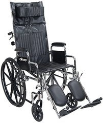 CHROME SPORT FULL-RECLINING WHEELCHAIR CS18RBDFA