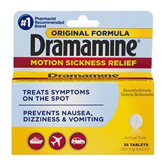 Dramamine Motion Sickness Relief Original Formula | 36 Tablets | Prevents Nausea, Dizziness, and Vo