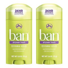 Ban Deodorant 2.6 Ounce Invisible Solid Shower Fresh