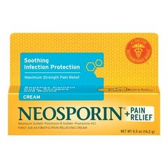 Neosporin Plus Pain Relief Cream, Maximum Strength, 0.5 oz
