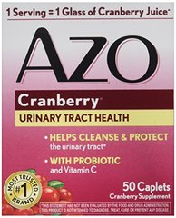 AZO Cranberry for Healthy Urinary Tract with Immune Boosting Probiotic & Vitamin C - 50 Tab