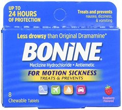 Bonide for Motion Sickness Chewable Tablets, Raspberry Flavored, 8 Each