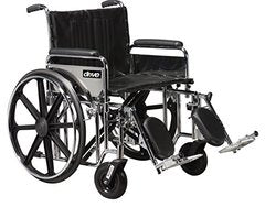 Bariatric Sentra Extra-Heavy-Duty Wheelchair STD24DDA-SF