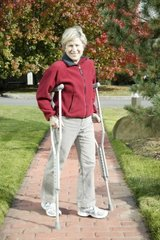 Drive Medical Aluminum Crutch with Comfortable Underarm Pad and Handgrip, Gray, Pediatric