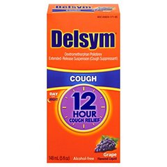 Delsym Adult 12 Hr Cough Relief Liquid, Grape, 5oz