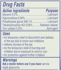 Visine Totality Multi-Symptom Relief Lubricant/Astringent/Redness Reliever Eye Drops, .5 Fl. Oz