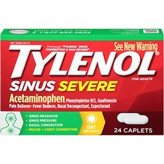 Tylenol Sinus Congestion Plus Pain Severe Daytime Non-Drowsy, 24 Count