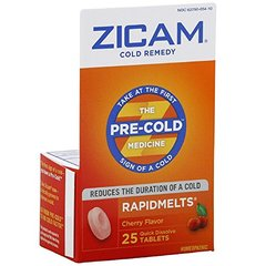 Zicam Cold Remedy RapidMelts, Cherry, Quick Dissolve Tablets, 25 tablets
