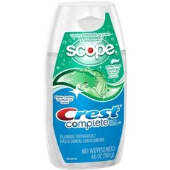 Crest Complete Whitening Plus Scope Minty Fresh Liquid Gel Toothpaste, 4.6 Ounce --
