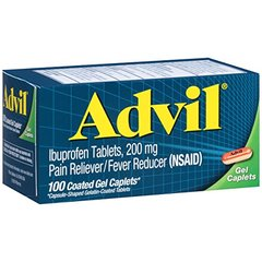 Advil Advanced Medicine for Pain Gel Caps 100 Count
