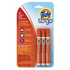 Tide To Go Instant Stain Remover Liquid Pen, 3 Count