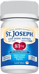 St. Joseph Pain Reliever, 81 mg, Enteric Coated Tablets, 200 ct.