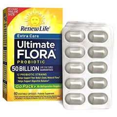 Renew Life UltimateFlora Probiotic Extra Care Go Pack 50 Billion, 60 count