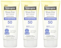 Neutrogena Sheer Zinc Dry-Touch Sunscreen Broad Spectrum SPF 50, 3 Fl. Oz.