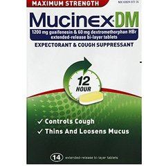 Mucinex DM 12 Hr Max Strength Expectorant & Cough Suppressant Tablets, 14ct