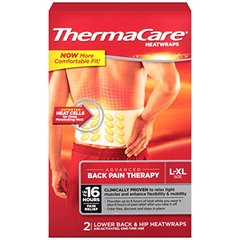 ThermaCare Advanced Back Pain Therapy (2 Count, L-XL Size) Heatwraps, Up to 16 Hours Pai
