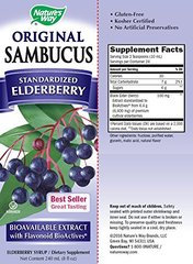 Nature's Way Sambucus Black Elderberry Original  Syrup, 8 Ounce