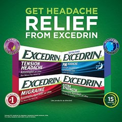 Excedrin Tension Headache Aspirin-Free Caplets for Head, Neck, and Shoulder Pain Relief, 100 count