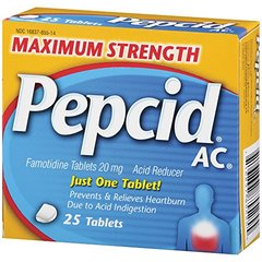 Maximum Strength Pepcid (famotidine) AC All-Day Heartburn Relief Medicine,  25 count
