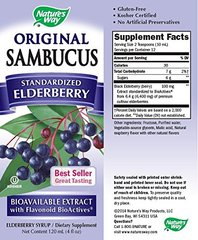 Nature's Way Sambucus Syrup, Elderberry, 4-Ounce