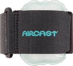 Aircast Pneumatic Armband: Tennis/Golfers Elbow Support Strap, Black