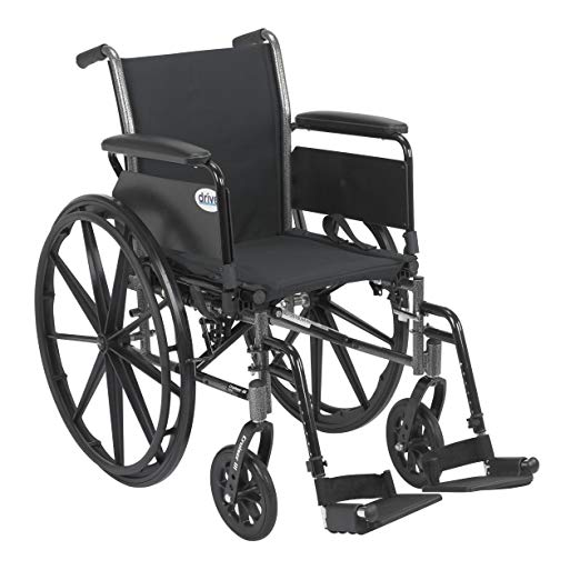 Wheelchair - Light Weight Wheelchair with Various Flip Back Arm Styles and Front Rigging Options