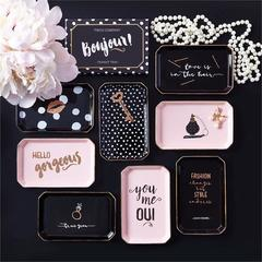 "Glam On Bonjour Small Porcelain Tray ""YOU ME OUI"""
