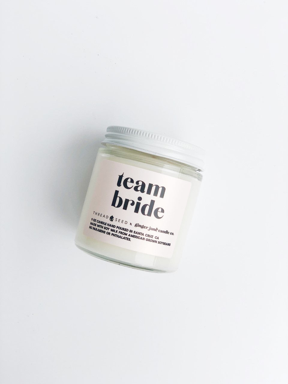 Team Bride Candle by Ginger June x Thread + Seed