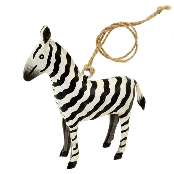 The Safari Zebra Iron Ornament