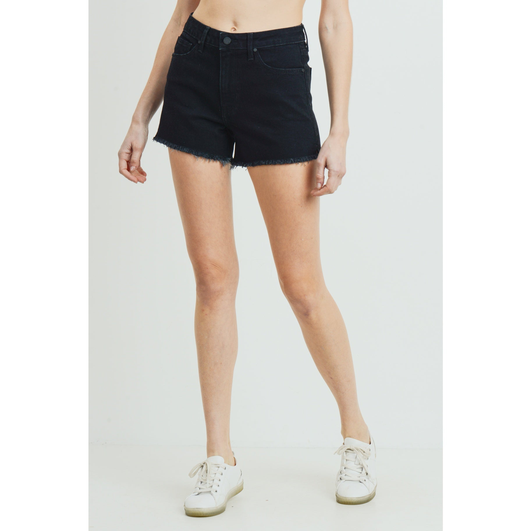 The Weekend Black Jean Shorts by Just Black Denim