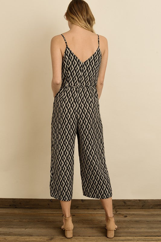 The Alba Geometric Culotte Jumpsuit