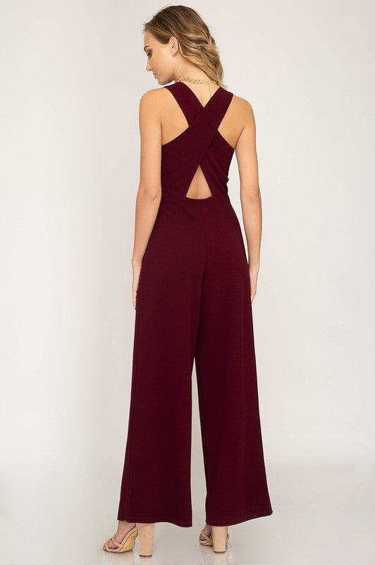 The Hazel Cross Back Jumpsuit