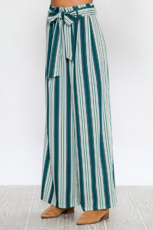 The Kane Striped Wide Leg Pants