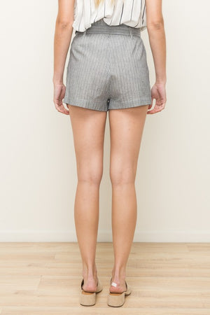 Grecia Striped Tie Waist Shorts