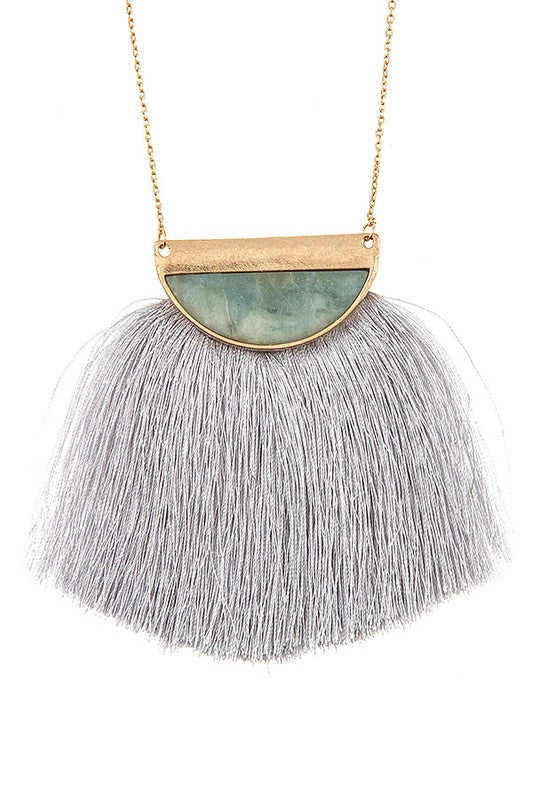 The Julia Semi Circle Fringe Necklace