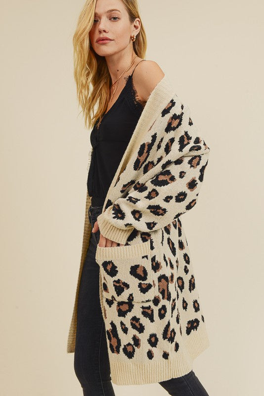 The Jaria Jacquard Leopard Cardigan