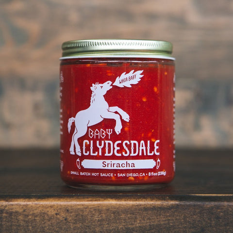 Small Batch Sriracha Hot Sauce by Baby Clydesdale