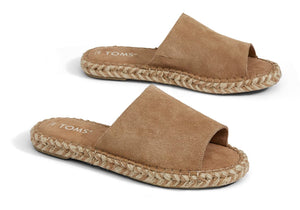 Toffee Suede Women's Clarita Espadrilles by TOMS