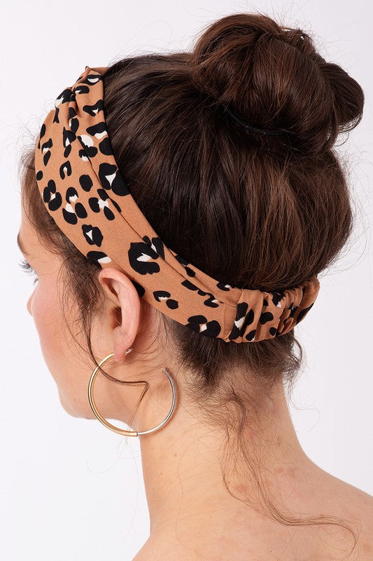 The Zoella Leopard Print Headband