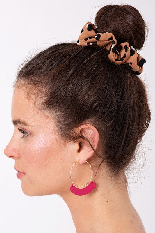 The Delores Leopard Print Hair Scrunchie