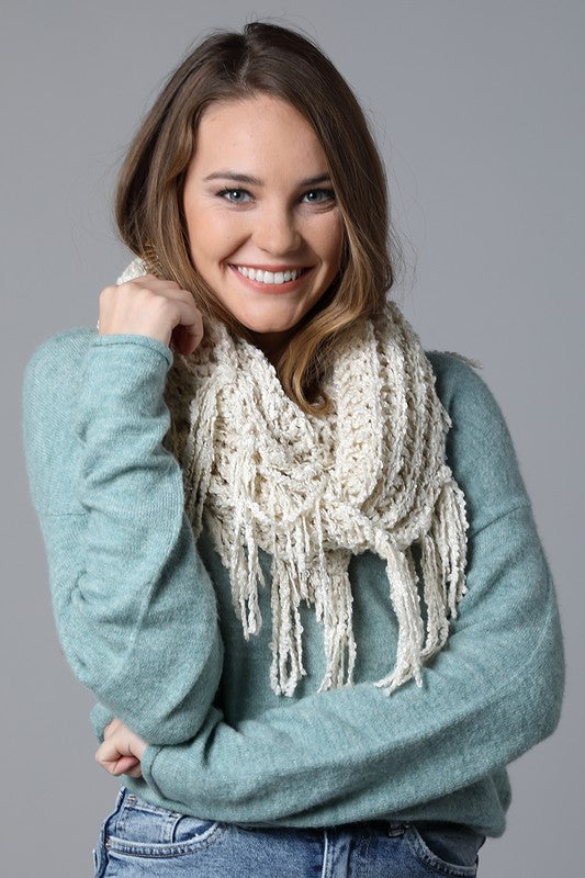 The Mia Net Boucle Infinity Scarf