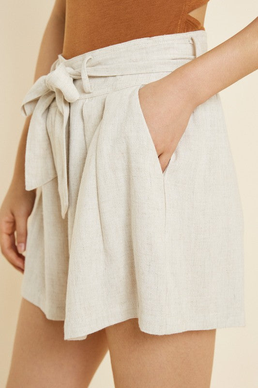 The Arizona Linen Tie-Front Shorts