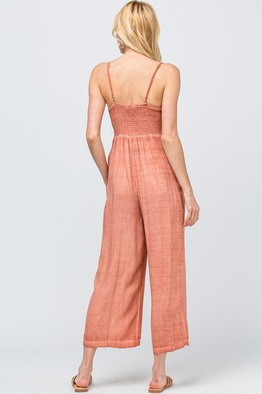 The Barbara High-Waist Knotted Jumpsuit