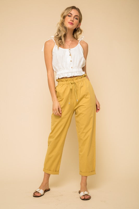 The Jade Paper Bag High Waist Pants