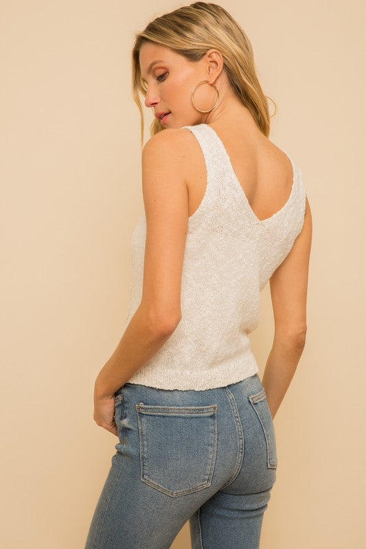 The Tammy Two Toned Twist Tank