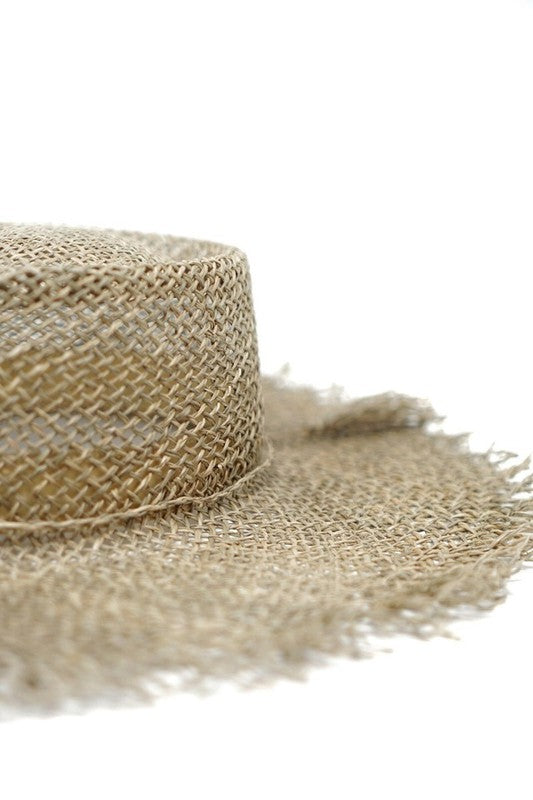 The Jana Open Weave Boater Hat